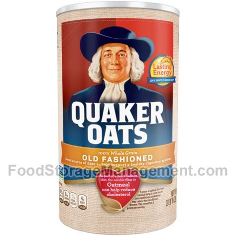 weight management oatmeal nutrition facts quaker oats fashioned oats 030000010402 food