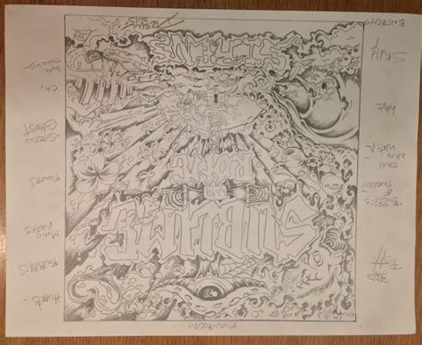 sketch of album cover sublime with rome sirens album cover by drew brophy