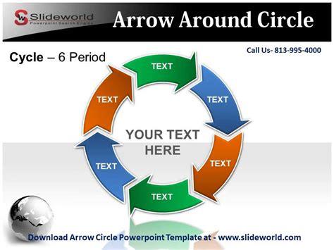 Arrow Circle Powerpoint Template Youtube Powerpoint Circular Arrow