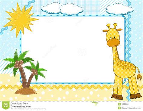 imagenes de jirafas con frases marco de la foto de los ni 241 os jirafa ilustraci 243 n del