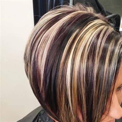 purple highlights in platinum blonde hair purple lowlights dark and platinum hair artist tabitha