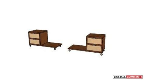 Ikea Hopen Nightstand Pair Of Ikea Hopen Nightstand Left And Right Goodeal List4all