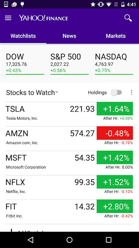 yahoo finance stock quotes mobile yahoo finance android apps on play