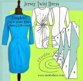 pattern maker new jersey well suited jersey twist dress sled