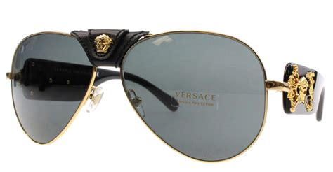 Versace Sunglasses new versace sunglasses aviator ve 2150q black 1002 87