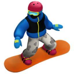 snowboarder emoji (u+1f3c2)