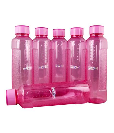 Sleek Bottle 450 Ml nayasa sleek plastic 1000 ml water bottle 6 pcs buy at best price in india snapdeal