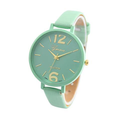 Jam Tangan Wanita Geneva Ab760 Green jual daily deals geneva korea tali kecil jam tangan wanita green harga kualitas
