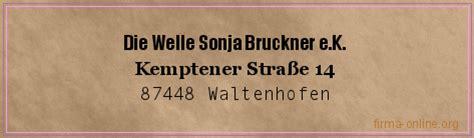 Die Welle Waltenhofen by Die Welle Sonja Bruckner E K In Waltenhofen Firma