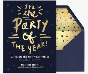 New Year S Eve Party Invitations Evite Com New Year Invitation Template