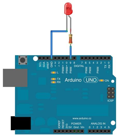 arduino resistors tutorial tutorial 10 fade an led with pulse width modulation using analogwrite programming