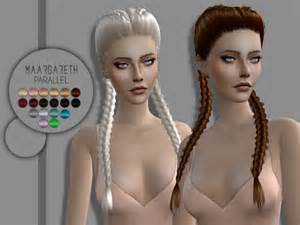 cc hair for sism4 maargareth parallel hair for females tsr sims 4