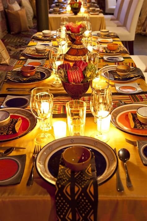 history themed events a beautiful african table setting african recipes