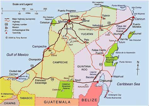 map of mexico yucatan peninsula clickable interactive map of yucatan peninsula mexico