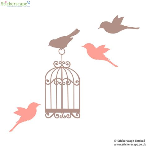 birdcage wall stickers classic birdcage wall sticker stickerscape uk
