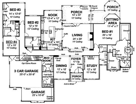 4000 sq ft house plan floor plans pinterest