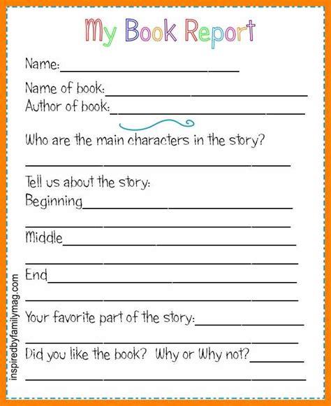 book report template grade 3 9 2nd grade book report template 3canc