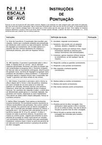 Escala NIHSS - Fisioterapia Neurológica