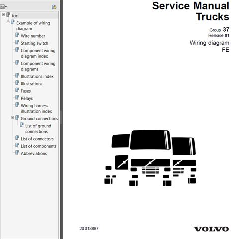 volvo trucks fe wiring diagram service manuals pdf repair