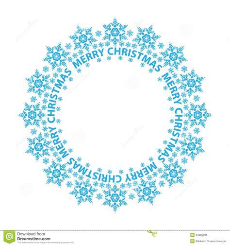 vintage crculo de concepto feliz navidad vector de stock o feliz natal carda flocos de neve azuis em um c 237 rculo