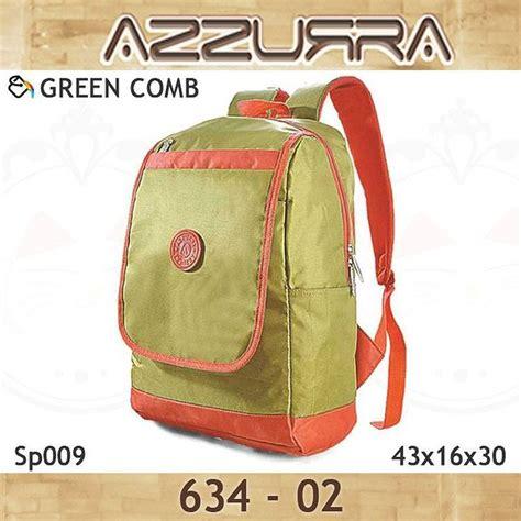 Tas Ransel Instagram tas ransel gendong backpack azzurra 634 02 warna greencomb bahan sp009 ukuran 43x16x30 cm