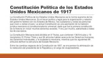 constitucin poltica de los estados constituci 243 n pol 237 tica de los estados unidos mexicanos de 1917