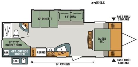 2018 sportsmen 271bhle floor plan rv
