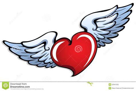 tattoo cuore con ali significato cuore stilizzato con le ali 1 illustrazione vettoriale