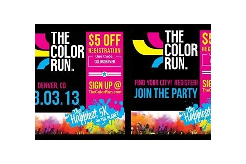 coupons color run