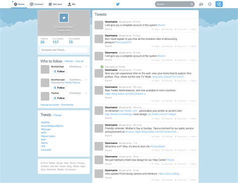 twitter layout vector twitter template psd at downloadfreepsd com