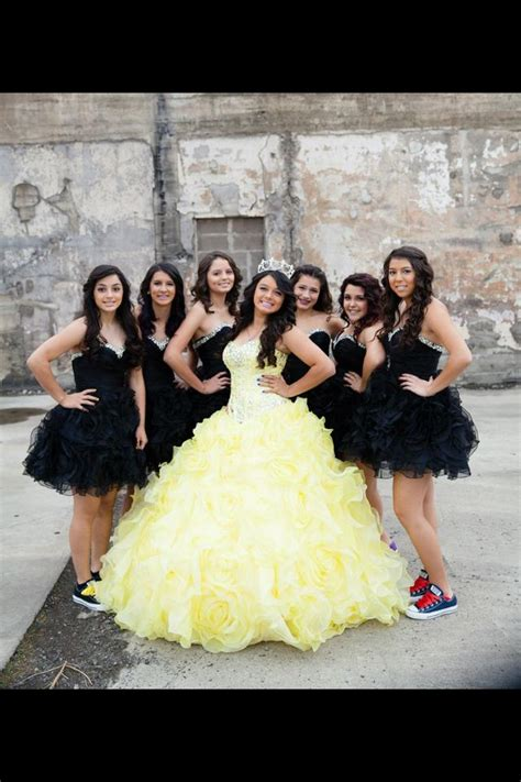 quinceanera themes yellow chloe and her damas chloe s superhero themed quinceanera