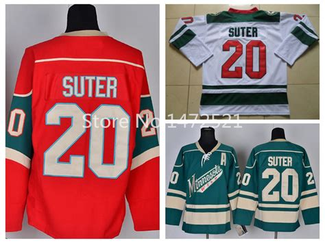 aliexpress nhl jerseys new men s minnesota wild suter hockey jerseys 20 ryan