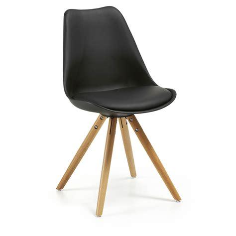 chaise plastique noir chaise ralf bois plastique noir acheter en ligne emob