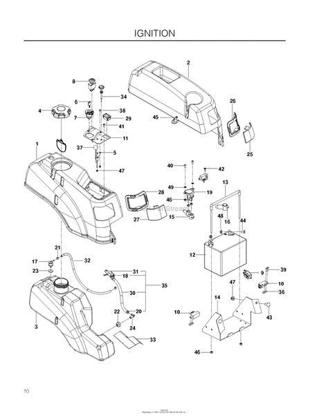 ignition diagram husqvarna rz4623 967009802 2011 11 parts diagram for