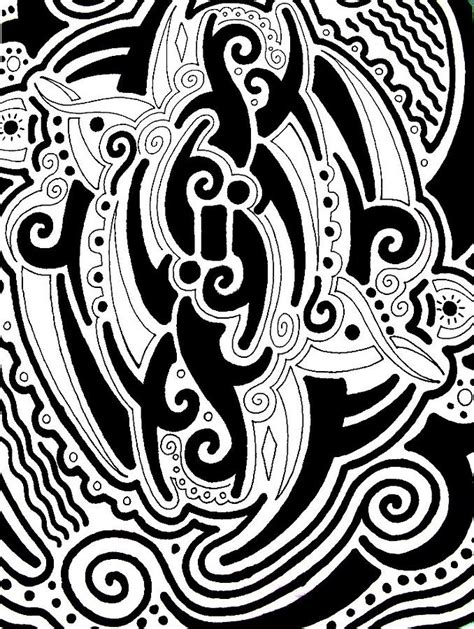 tribal drawing by andrew padula