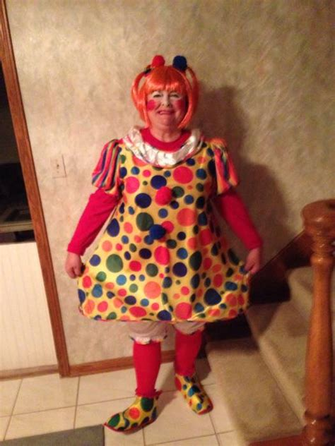 size giggles  clown costume