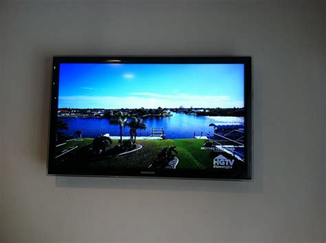 front view   samsung tv wall mounted  kitchen