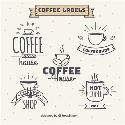 3d Sticker Vintage by Set Of Vintage Style Coffee Stickers Vector Free