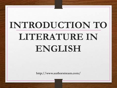 introduction to literature introduction to literature in