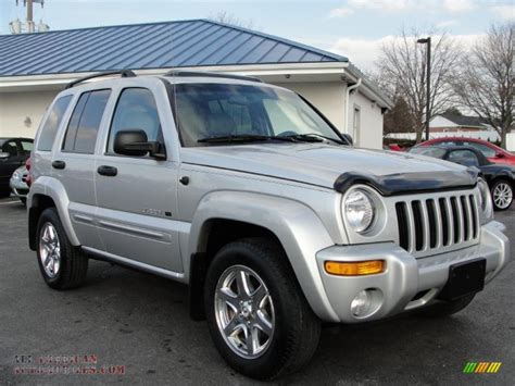 silver jeep liberty 2003 jeep liberty limited 4x4 in bright silver metallic