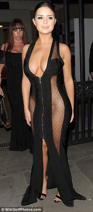 house see through tyga s rumoured ex demi rose goes completely underwear free daily mail online