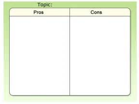 Pro Con List Template by Template Pros And Cons Rm Easilearn Us