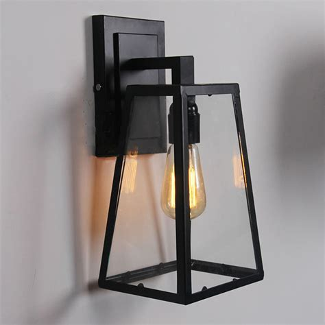 Modern Sconce Light Fixtures Retro Outdoor Modern Filament Clear Glass Sconce Restoration Wall L Light Fixture In Wall