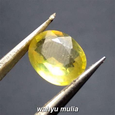 Cincin Sapphire Yellow Tanzania batu permata greenish yellow sapphire asli kode 848