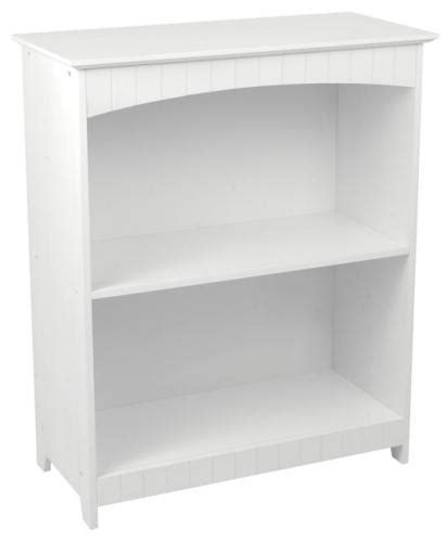 White Nantucket 2 Shelf Bookcase White 2 Shelf Bookcase