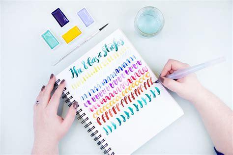 brush lettering tutorial watercolor watercolor brush lettering craftjam