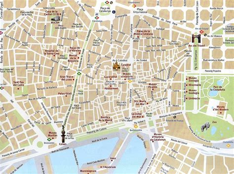 barcelona map tourist attractions barcelona map images