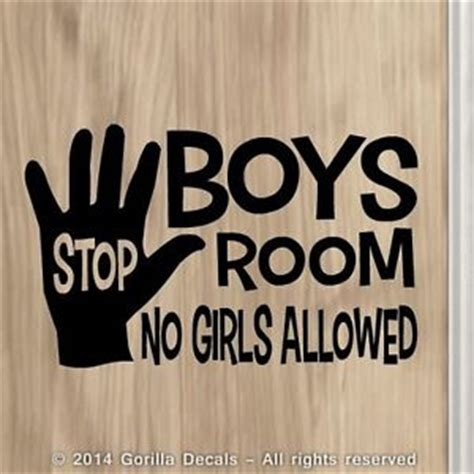 who sings in the boys room boys room no allowed boy vinyl decal sticker bedroom door sign black white ebay