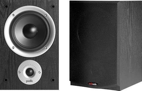 polk audio 5 1 4 quot 2 way bookshelf speakers pair black