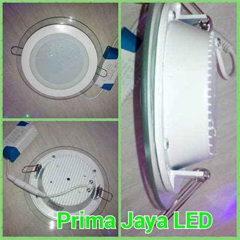 Downlight Led 1 Mata Kotak Cahaya Kuning Model Minimalis led panel bulat kaca 12 watt